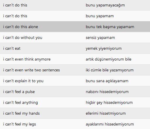 Turkish: I can't... -10