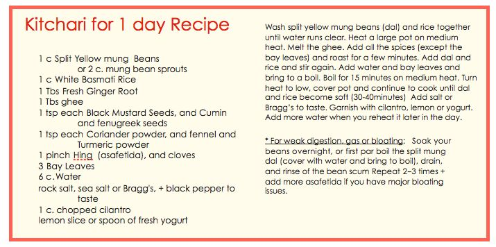 Get Cate's Kitchari Recipe, tips and troubleshooting. Eat kitchari for a day whenever you want to de-stress your life.