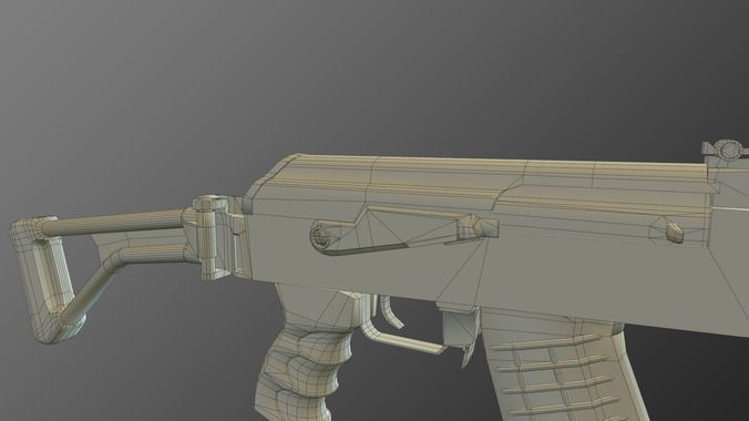 tactical ak-47 model only pack 3d model  11