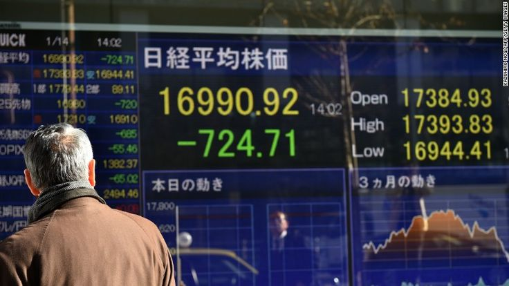 World stock markets start week with a drop - Jan. 17, 2016