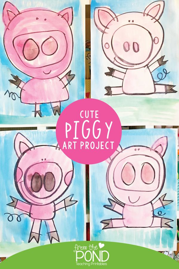 Cute Piggy Art Project