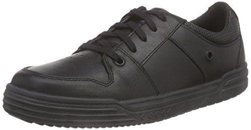 Clarks Chad Rail Jnr, Jungen Sneakers, Schwarz (Black Leather), 32 EU (13 Kinder UK) - http://uhr.haus/clarks-kids/clarks-chad-rail-jnr-jungen-sneakers-schwarz-32-eu