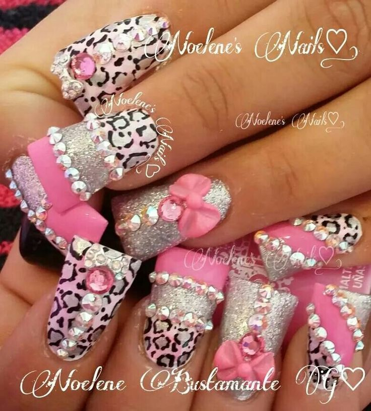 Bling nail art design on Duck feet nails | flare tip nails | fan nails wide - 25+ Best Bling Nail Art Ideas On Pinterest Bling Nails, Nail