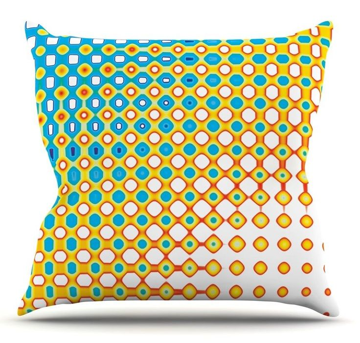 Psychedelic Art by Dawid Roc Throw Pillow