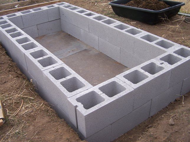 Cinder Block Worm Bin For Vermiculture Composting Could Work Raised Bed Garden
