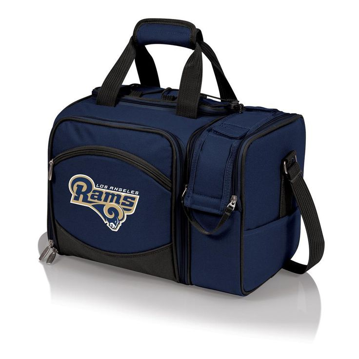 OneStopFanShop - Los Angeles Rams Picnic Basket Set For 2 Wine Tote, $99.95 (https://www.onestopfanshop.com/nfl/los-angeles-rams/los-angeles-rams-picnic-basket-set-for-2-wine-tote/)