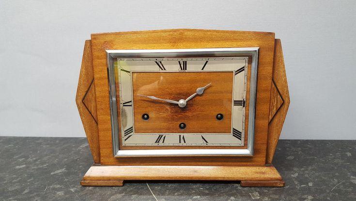 Vintage Art Deco Garrard 8 Day Westminster Chiming Mantle Clock #Garrard