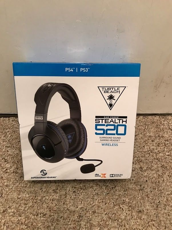 Turtle Beach Stealth 520 Surround Sound Wireless Gaming Headset for PS3 or PS4 #TurtleBeach