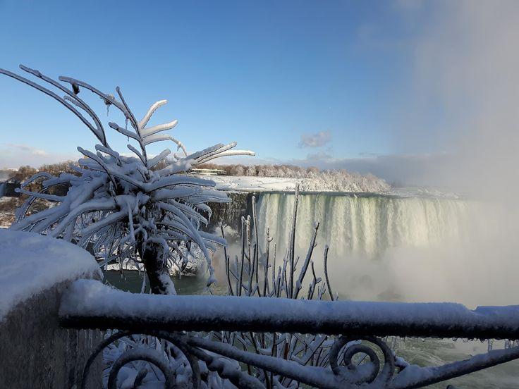Ice and the sun! Beautiful Niagara Falls, Canada