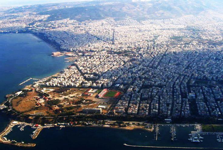 Aerial view of Kalamaria, Thessaloniki Greece
