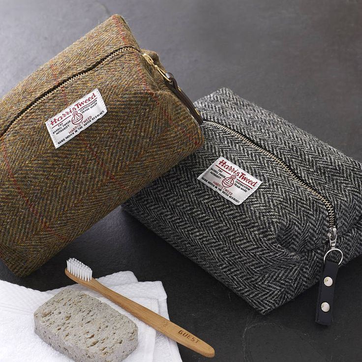 men's harris tweed toiletry bag by catherine aitken | notonthehighstreet.com