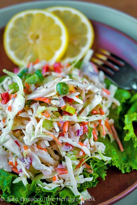 Enjoy this coleslaw dressed with homemade Ranch dressing ~ my favorite! #SummerSoiree #FoodNetwork ... Ranch Confetti Coleslaw; 2014 Jane Bonacci, The Heritage Cook