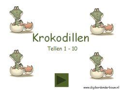 Digibordles Krokodillen tellen 1tot 10