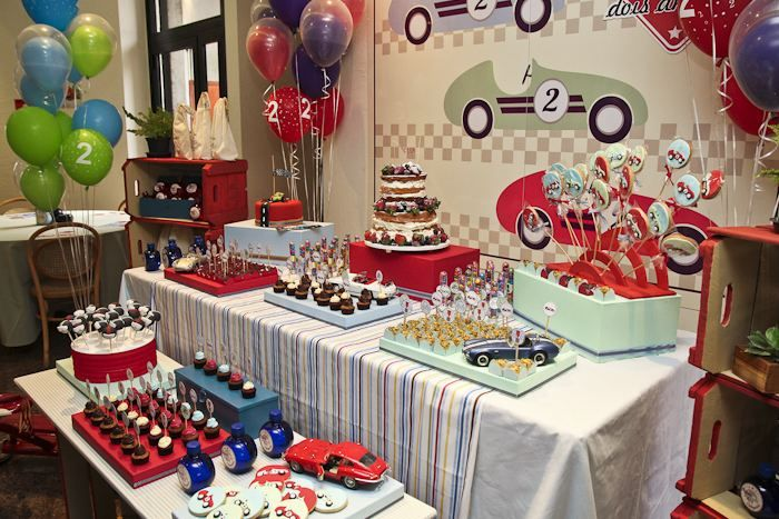 Vintage race car themed birthday party car racing car for Vintage theme ideas