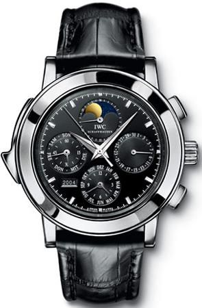 IWC Grande Complication Black DIal Chronograph Black Leather