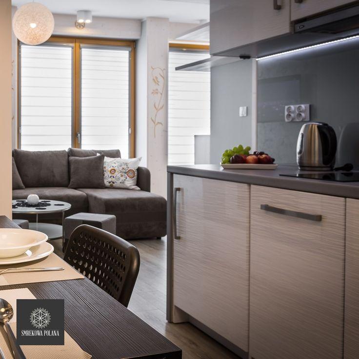 Apartament Halny - zapraszamy! #poland #polska #malopolska #zakopane #resort #apartamenty #apartamentos #noclegi #livingroom #salon #kitchenette