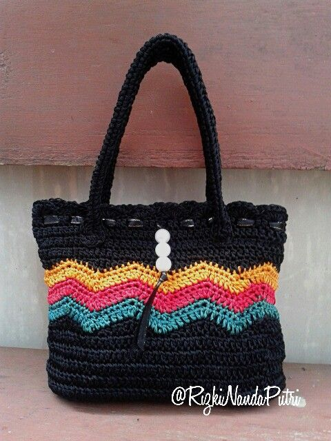 Crochet bag zig zag pattern