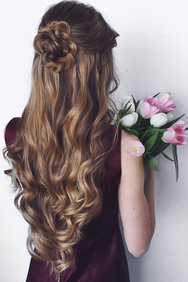 Romantic Updo with Curls on @oleksa.z <3 Sasha is wearing Dirty Blonde…
