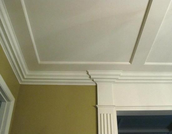 Diy Custom Crown Molding The Ceiling Wainscoting