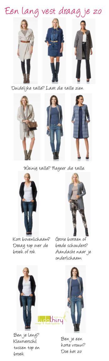 Een lang vest draag je zo. Voor meer tips lees mijn blog |www.lidathiry.nl| #LangVest #perfectlybasics.   Ook mijn lievelingskledingstuk!!!