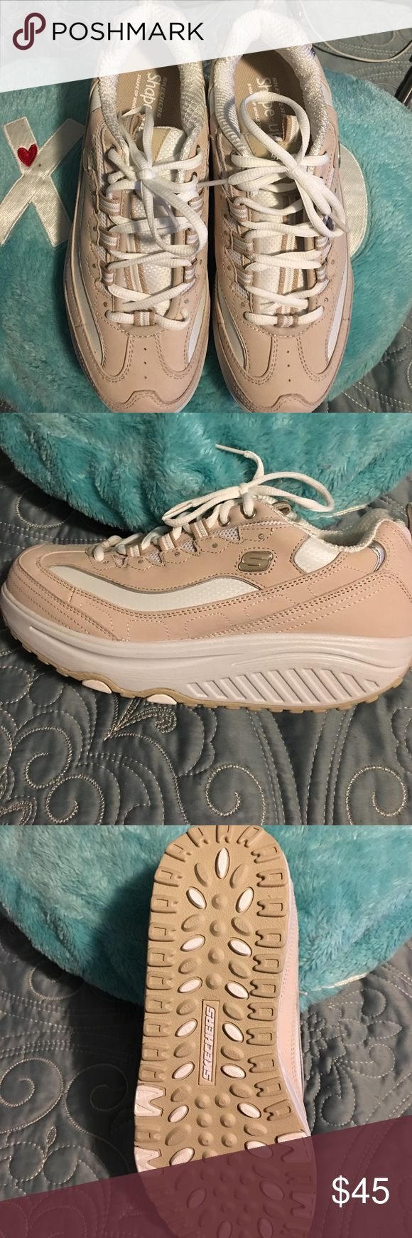 SKECHERS Shape-Ups Brand new never worn, SKECHERS Shape-Ups sneakers 👟, SAND in color and size 8.5 US! Comes with Workout CD-ROM! Time for bikinis 👙 ladies Skechers Shoes Sneakers
