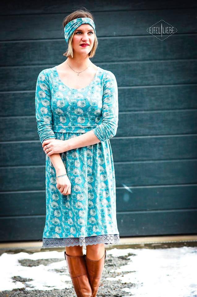 daf3f16eaff langärmlige Damenkleider nähen mit Konfetti Patterns (Schnittmuster  Elisabeth) - schlankmachendes Kleid