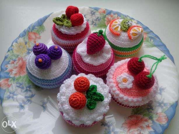 Вязаные торты, пирожные, мороженое или еда для кукол Киев - изображение 2