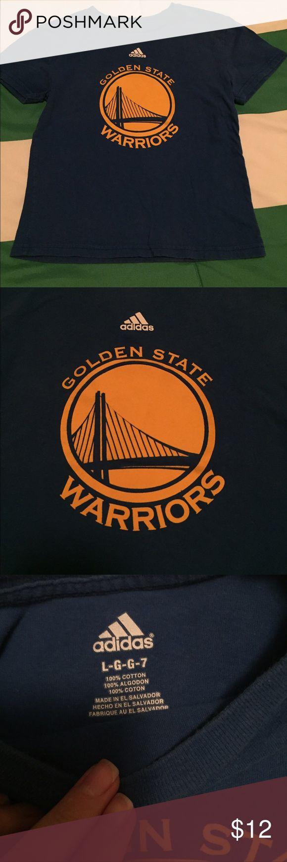Boys 7 Golden State Warriors Adidas Boys size 7 tshirt. Golden state warriors. Adidas. Adidas Shirts & Tops Tees - Short Sleeve