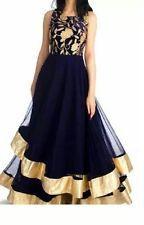 Nikaah Glamour Design Anarkali Dress Heavy Gherdaar Double Layer Bridal Dresses