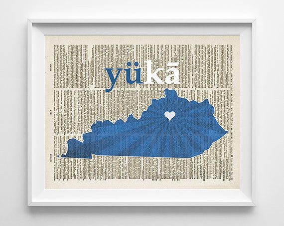 UK University of Kentucky Wildcats Inspired Phonics/Phonetic ART PRINT This phonics challenge makes sounding out UK so much more fun! A perfect gift for your sports lover, a wedding gift for that coup