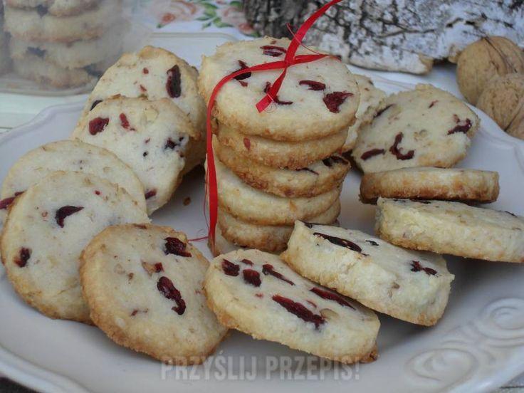 Ciasteczka żurawinowo-orzechowe