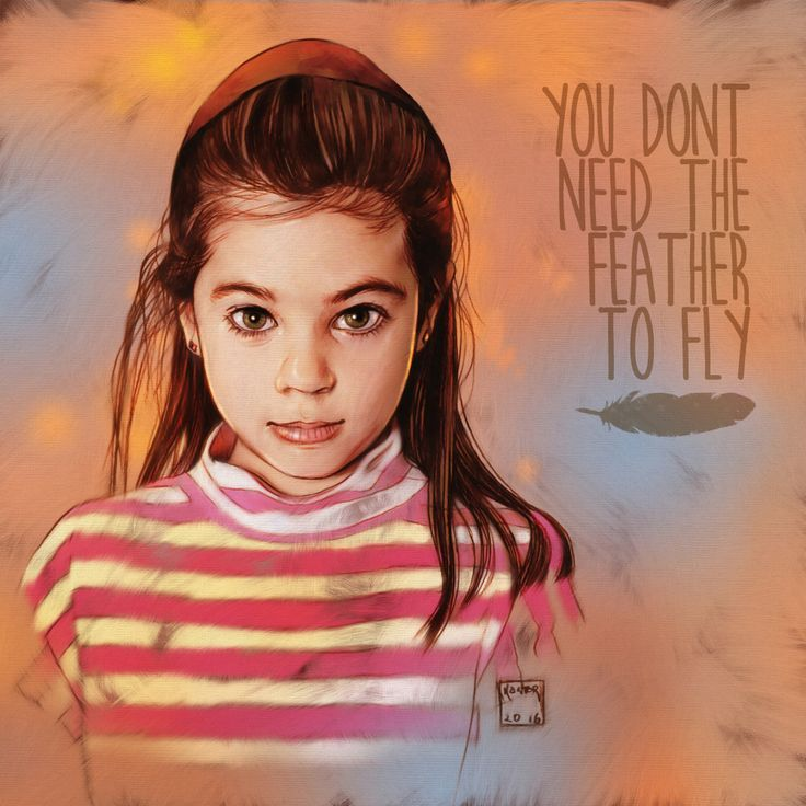 Another portrait, this time of my daughter Sam, pencil on paper & painted in Photoshop.The quote is a beauty from Dumbo.