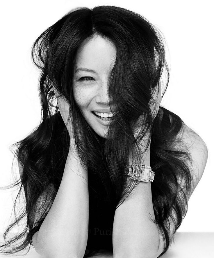 Lucy Liu by David Bailey, Love the way she doesn't hide her freckles.