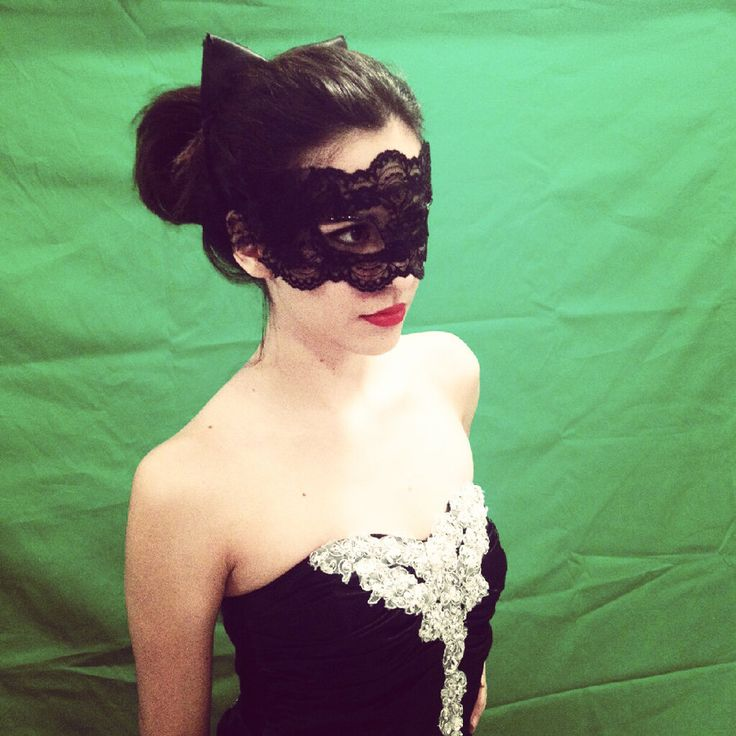 TDKR: Catwoman masquerade mask and ears by Romantically-Geeky.deviantart.com on @deviantART