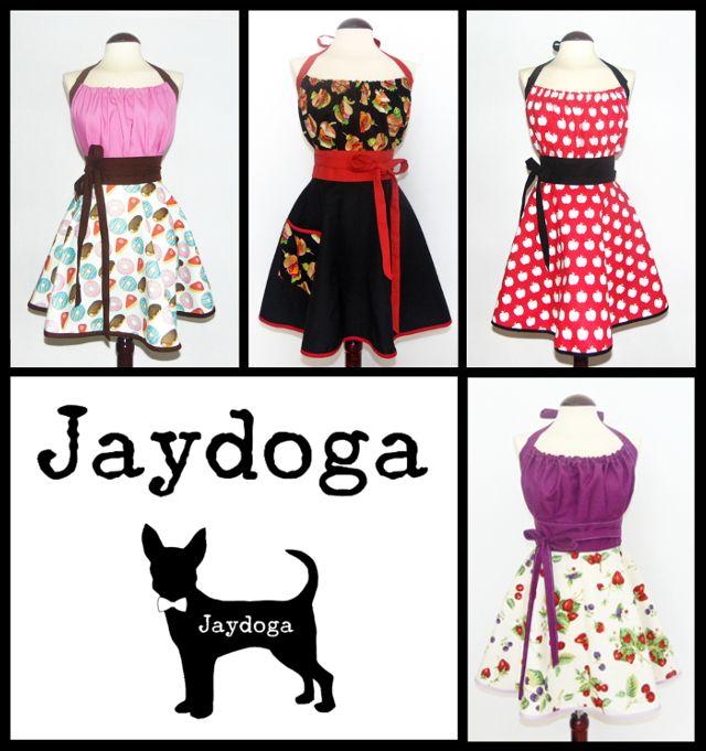 Delantales elegantes tipo vintage, los colores mas originales y la calidad Jaydoga!