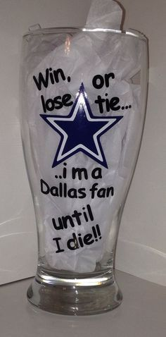 Dallas Fan Beer Mug- for my mom!