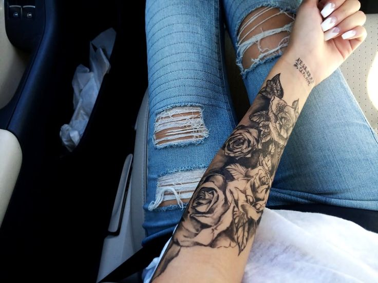 Image result for tattoo roses forearm