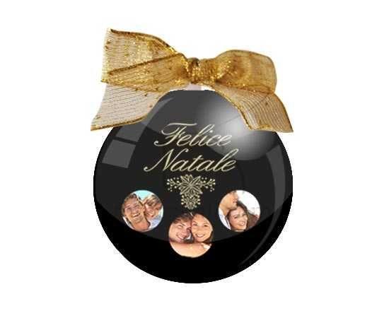 Palla di Natale tonda Black Christmas