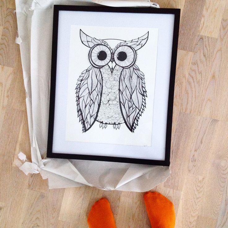 An owl  @agnesuvemo https://instagram.com/p/zm_GYoL-Ne/