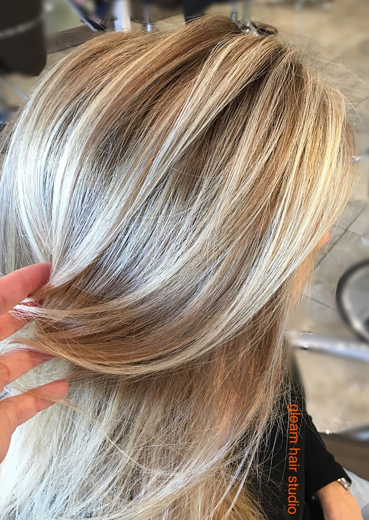Blonde Balayage on Dark blonde base...  Gleam Hair Studio Miami http://gleamhairstudio.com/