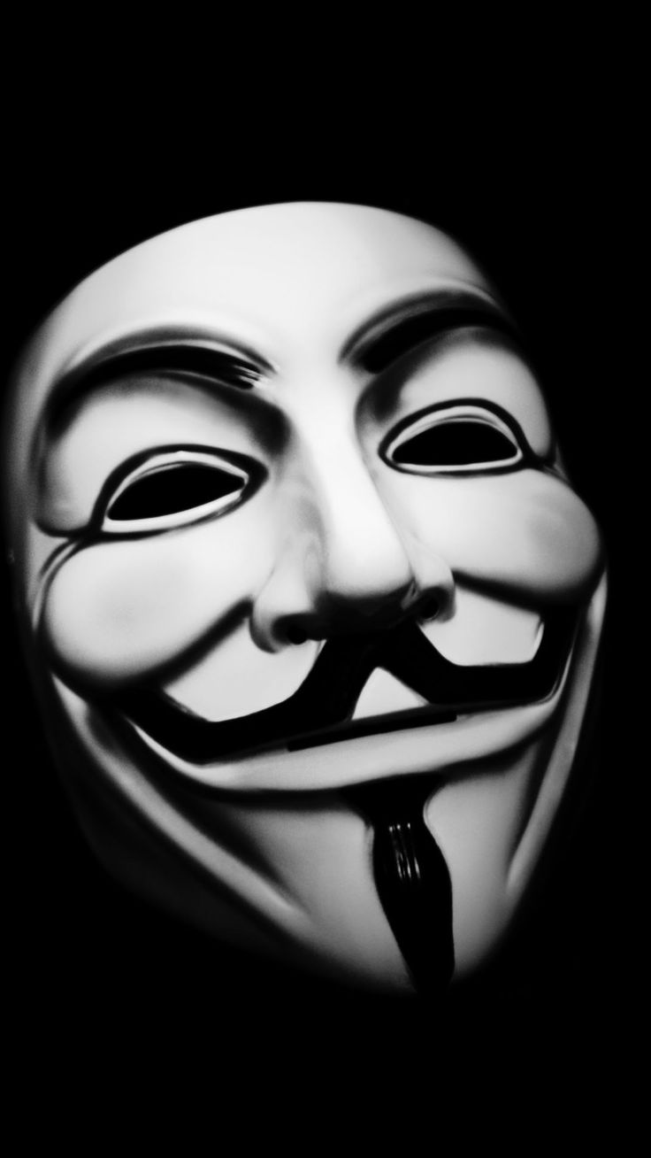 Vendetta Mask. Tap to see more Black and White style iPhone wallpapers. - @mobile9
