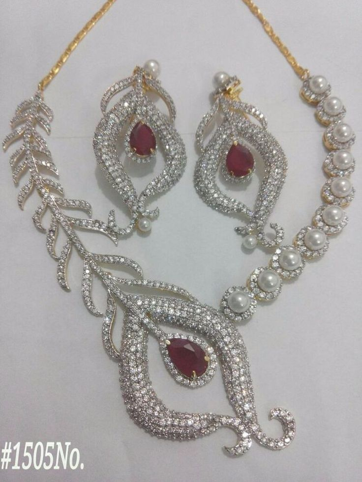 Bollywood Indian Necklace Bridal Set CZ Stone Pearl Ethenic Party Casual  #SparshJewels