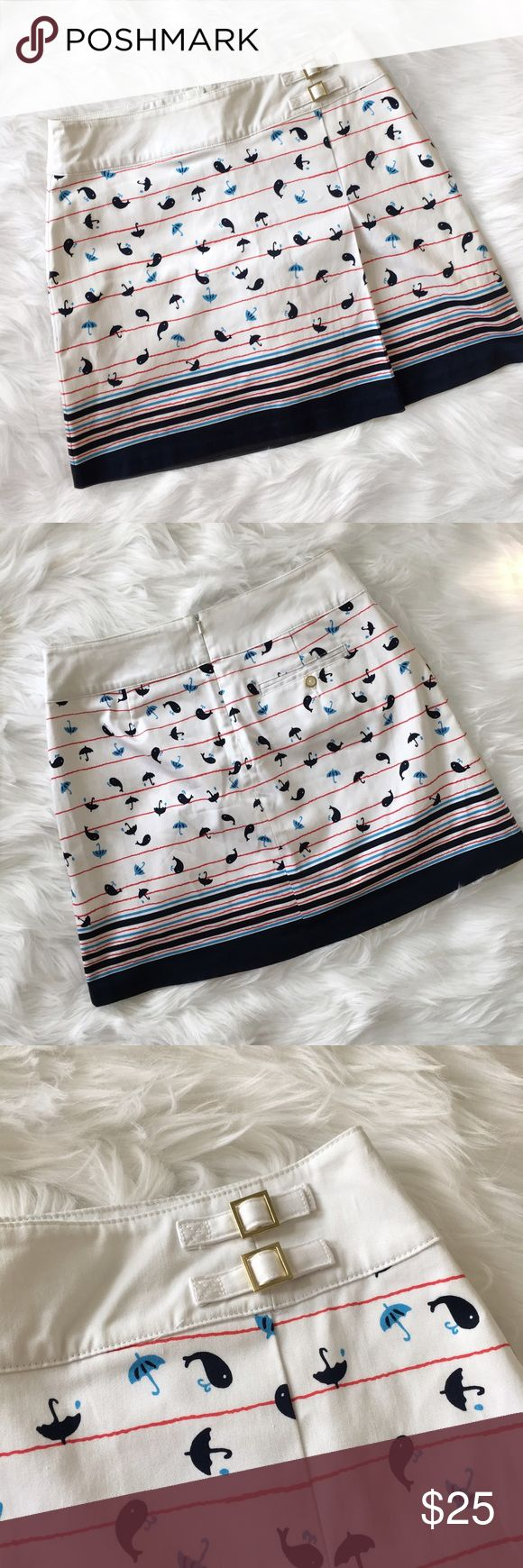 Lady Hagen Whale Print Golf Skort Lady Hagen Whale print golf skort. It's a skirt with built in shorts. One pleat in the front and a buckle detail at the top. In very good condition. Tag says size 2 but fits more like a 4. The waist is 14.5 inches and it is 16 inches long.   ⭐️10% off 2+ bundle  ⭐️Size 2  ⭐️Smoke free home  ⭐️No stains or flaws Lady Hagen Shorts Skorts