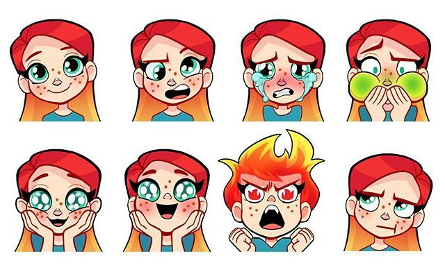Some emotes I made for @kungfufruitcup , she's a super sweet