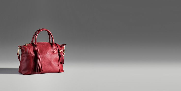 LEATHER BOWLING BAG - Massimo Dutti.  I love this little red number.