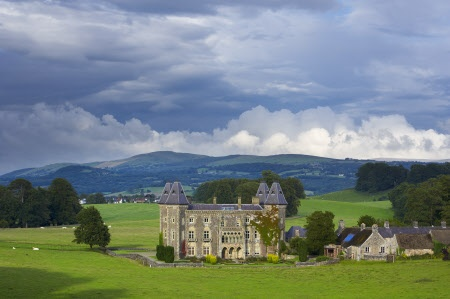 Newton House, a Victorian facade covering the c17th house, in the landscape park at Dinefwr, Llandeilo, - Carmarthenshire, Wales - Joe Cornish