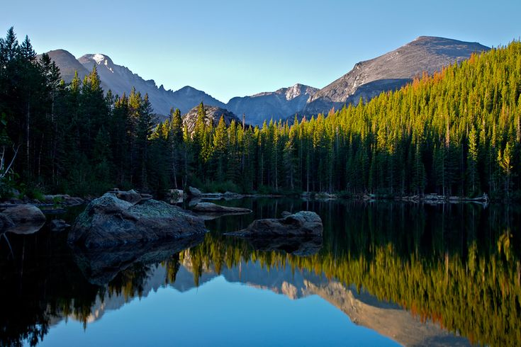 Rocky Mountain National Park.  Evidently, if you want to see it in all its glory, you need to get there soon.  Subtle temperature changes are killing the trees!
