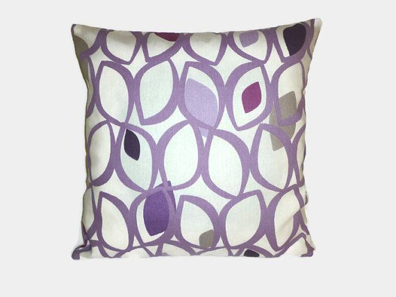 "Purple Pillow Grape Designer Cushion Cover Pillowcase Sham Slip Scatter Accent Pillow ONE x 16"" (40cm)"