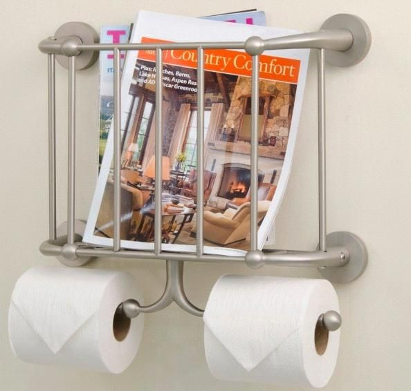 Wall Mounted Magazine Rack Toilet Paper Holder