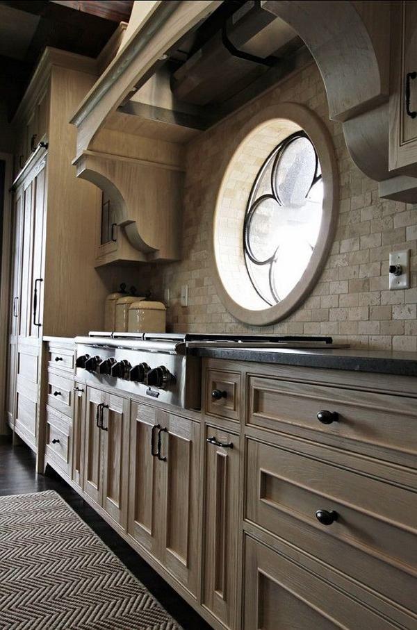 кухня идеи дизайна деревянные шкафы из натурального камня картины bacsplash плитки кирпичная стена